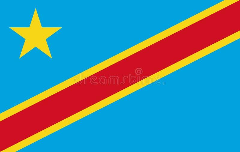 λαϊκή δημοκρατία σημαιών του Κογκό απεικόνιση αποθεμάτων