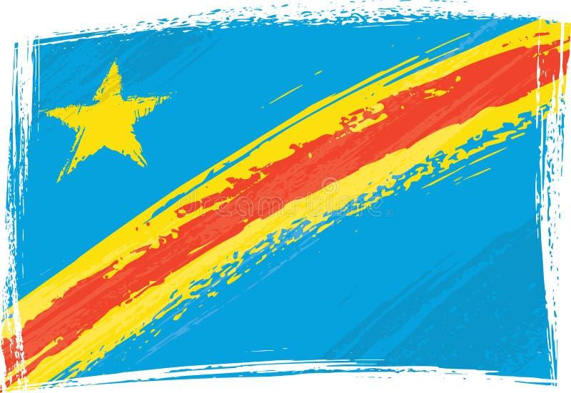 λαϊκή δημοκρατία σημαιών του Κογκό ελεύθερη απεικόνιση δικαιώματος