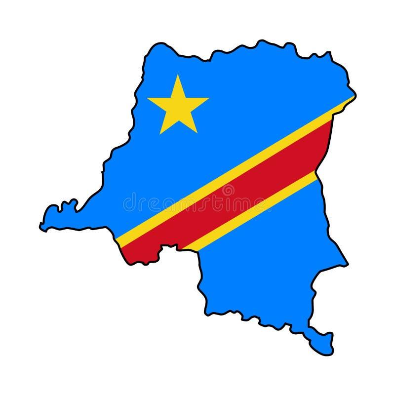 Λαϊκή Δημοκρατία του Κογκό Χάρτης της λαϊκής Δημοκρατίας του τ απεικόνιση αποθεμάτων
