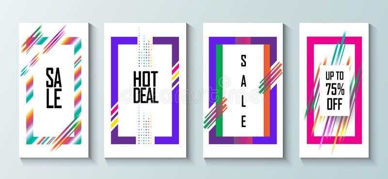 Λαϊκή τέχνη πώλησης hipster διανυσματική απεικόνιση
