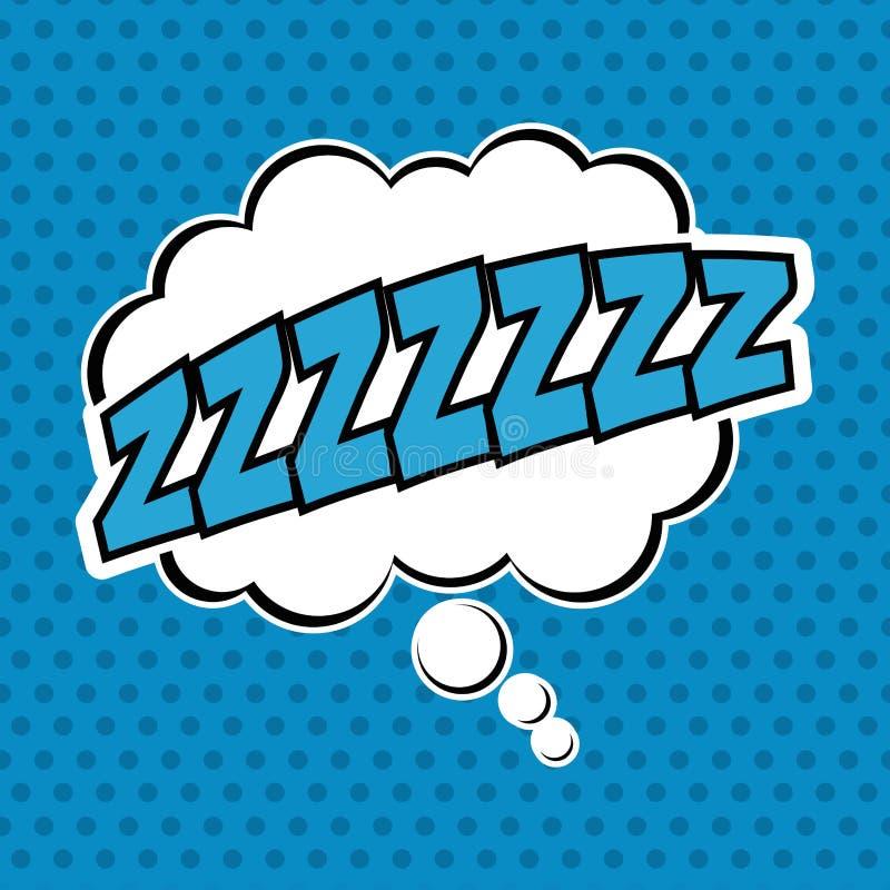 Λαϊκή τέχνη φυσαλίδων του σχεδίου ύπνου διανυσματική απεικόνιση