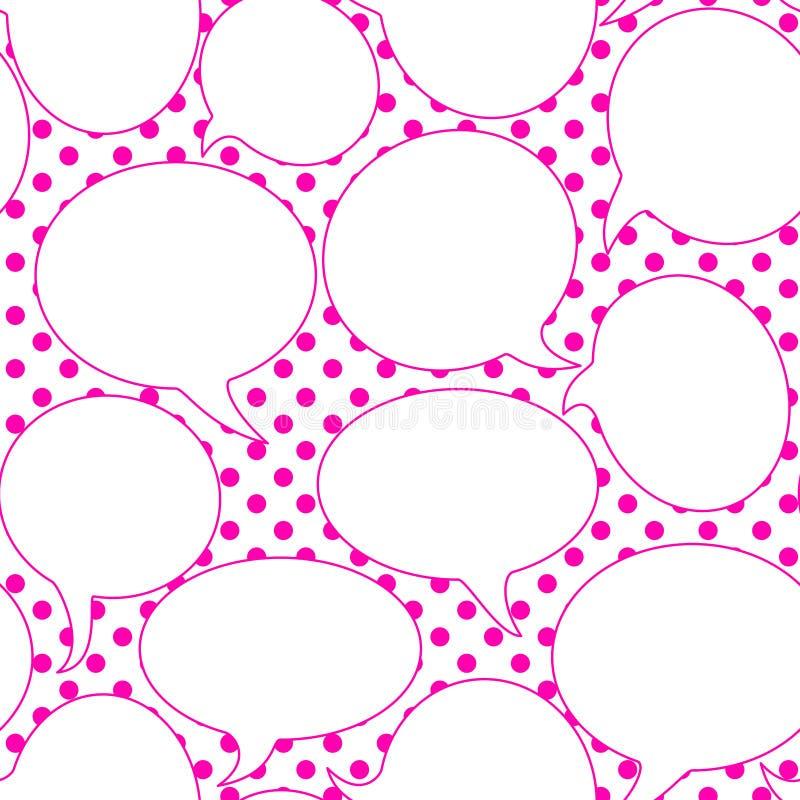 Λαϊκό άνευ ραφής υπόβαθρο λεκτικών μπαλονιών τέχνης διανυσματική απεικόνιση