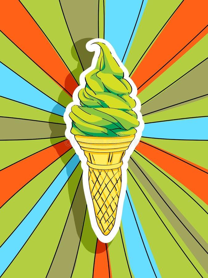 Λαϊκό παγωτό τέχνης ελεύθερη απεικόνιση δικαιώματος