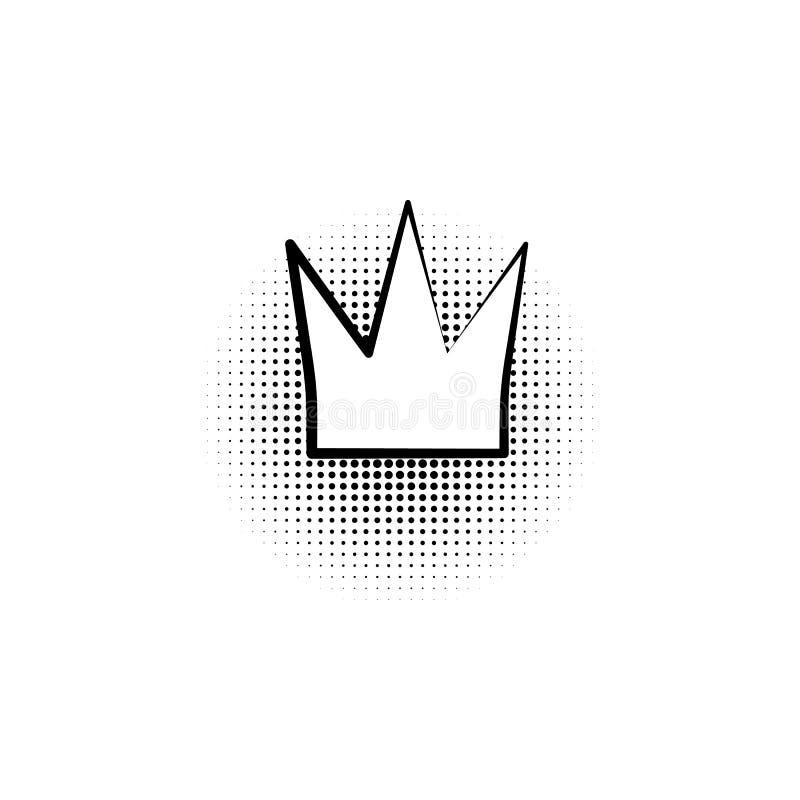 Λαϊκό ύφος τέχνης κορωνών βασίλισσας ελεύθερη απεικόνιση δικαιώματος