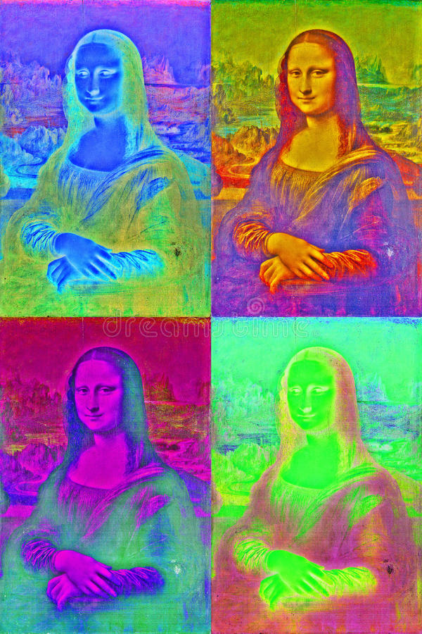 Λαϊκό ύφος τέχνης lisa της Mona στοκ φωτογραφία με δικαίωμα ελεύθερης χρήσης