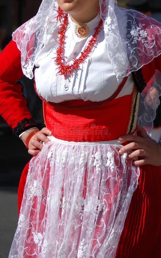 Λαός της Σαρδηνίας - κοστούμι Villanova Monteleone στοκ φωτογραφίες με δικαίωμα ελεύθερης χρήσης