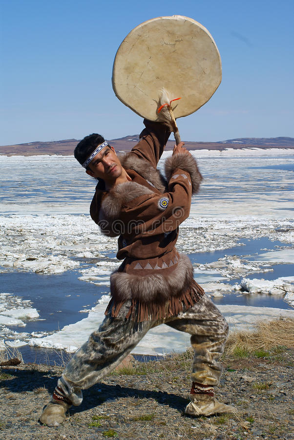 λαός χορού chukchi στοκ εικόνες