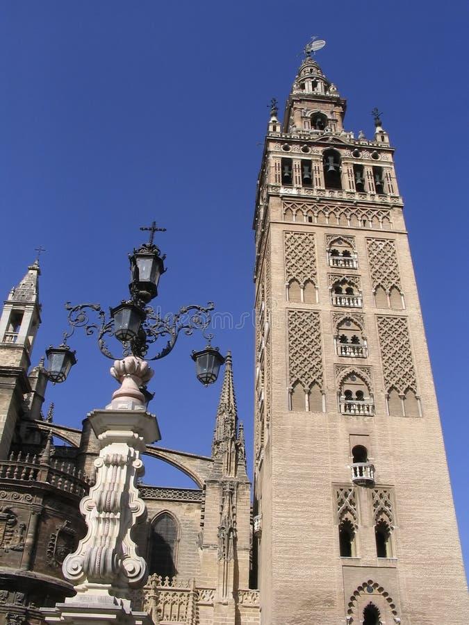 Λα Σεβίλλη Ισπανία giralda στοκ φωτογραφίες με δικαίωμα ελεύθερης χρήσης