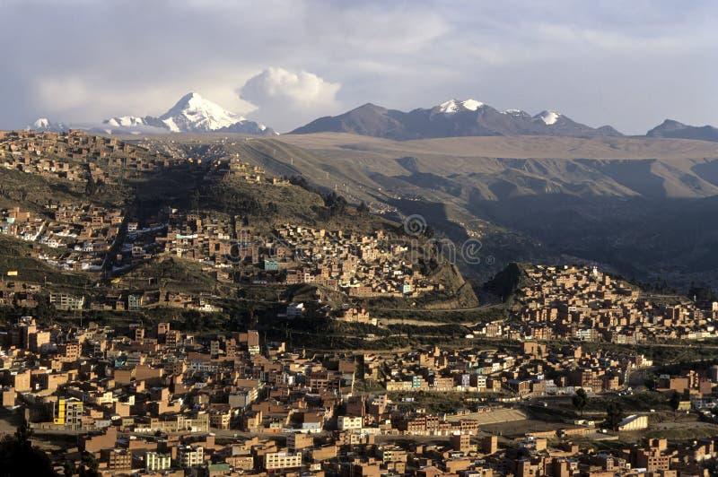 Λα της Βολιβίας paz στοκ εικόνα