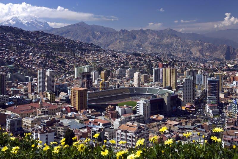 Λα της Βολιβίας paz στοκ εικόνες