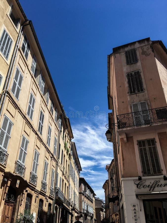 Λα του Aix-En-Provence balade dans ville στοκ φωτογραφία με δικαίωμα ελεύθερης χρήσης