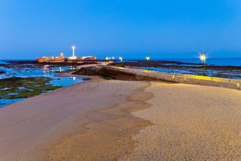 Λα caleta του Καντίζ παραλιών στοκ φωτογραφίες με δικαίωμα ελεύθερης χρήσης