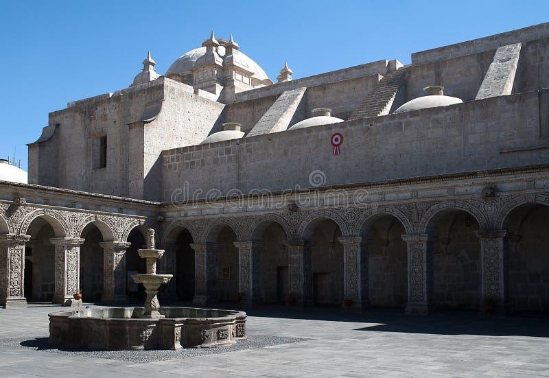 Λα Compania, Arequipa, Περού εκκλησιών στοκ φωτογραφία με δικαίωμα ελεύθερης χρήσης