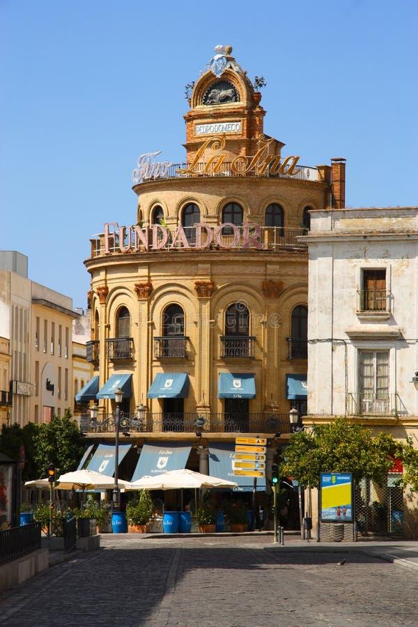 Λα Frontera, Edificio Gallo Azul Jerez de στοκ εικόνες με δικαίωμα ελεύθερης χρήσης