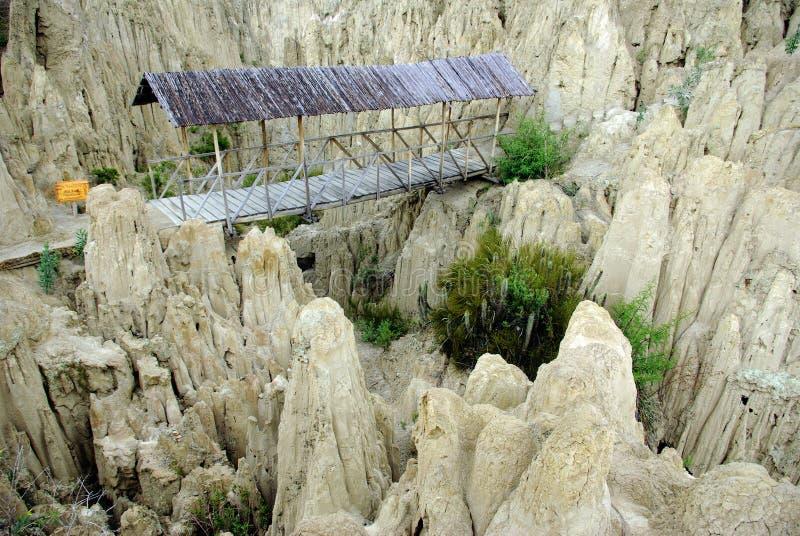 Λα luna valle της Βολιβίας de στοκ εικόνα