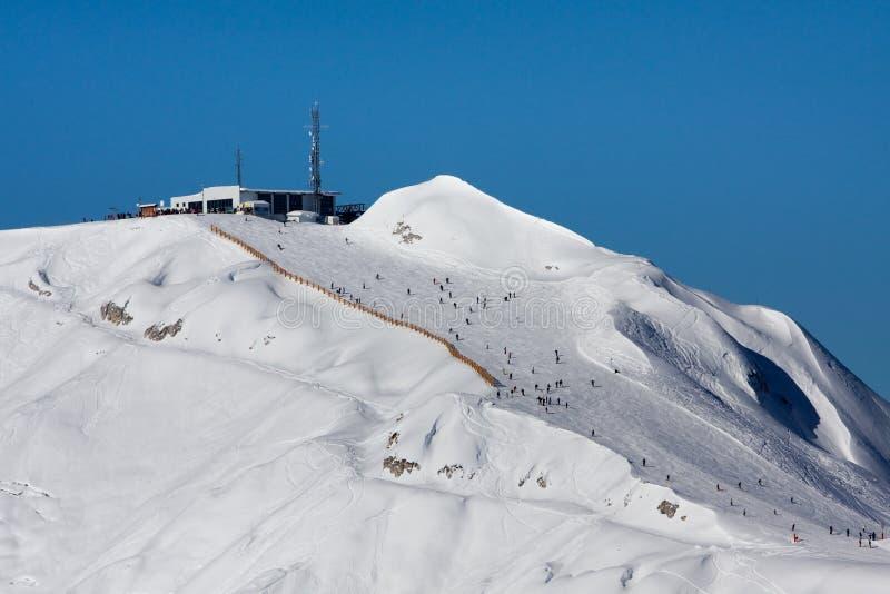 Λα plagne που κάνει σκι στοκ φωτογραφία με δικαίωμα ελεύθερης χρήσης