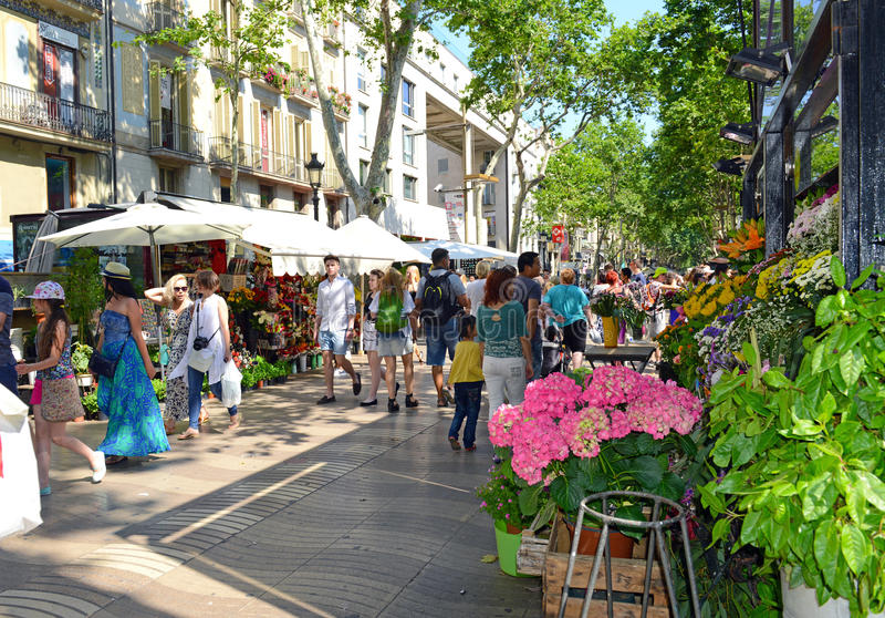 Λα Rambla στη Βαρκελώνη στοκ φωτογραφία