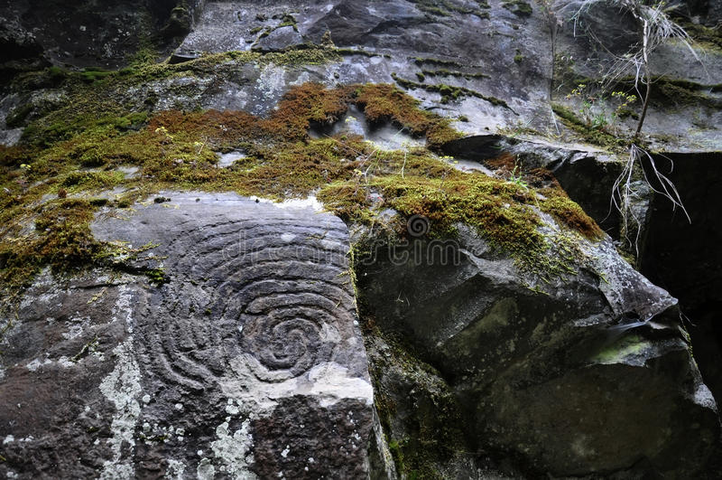 Λα Zarza | Petroglyphs στοκ εικόνες
