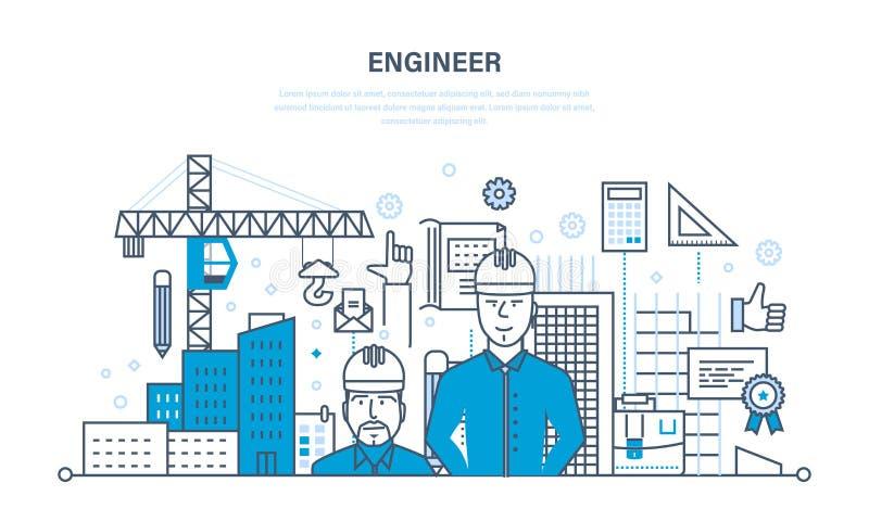 Λειτουργώντας κατασκευή μηχανικών το περιβάλλον γύρω από το εργοτάξιο ελεύθερη απεικόνιση δικαιώματος