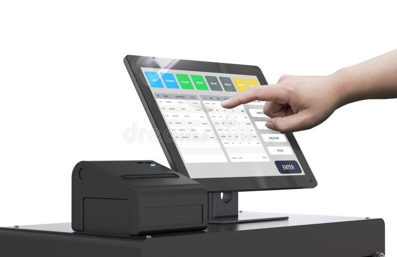 Λειτουργώντας μηχανή ταμιών χεριών ελεύθερη απεικόνιση δικαιώματος