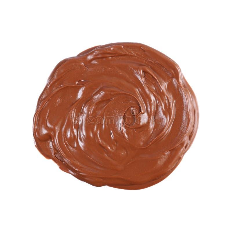 λειωμένη σκοτεινή σοκολάτα που απομονώνεται στο λευκό στοκ φωτογραφίες με δικαίωμα ελεύθερης χρήσης