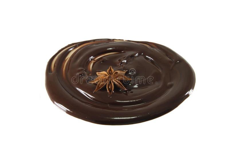 λειωμένο σοκολάτα αστέρι γλυκάνισου στοκ εικόνες με δικαίωμα ελεύθερης χρήσης