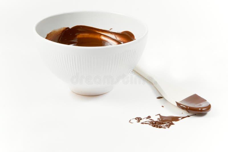 λειωμένο σοκολάτα κουτάλι ξύλινο στοκ εικόνες με δικαίωμα ελεύθερης χρήσης