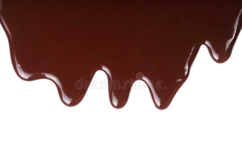 Λειωμένο στάλαγμα σοκολάτας που απομονώνεται στο άσπρο υπόβαθρο στοκ φωτογραφία με δικαίωμα ελεύθερης χρήσης