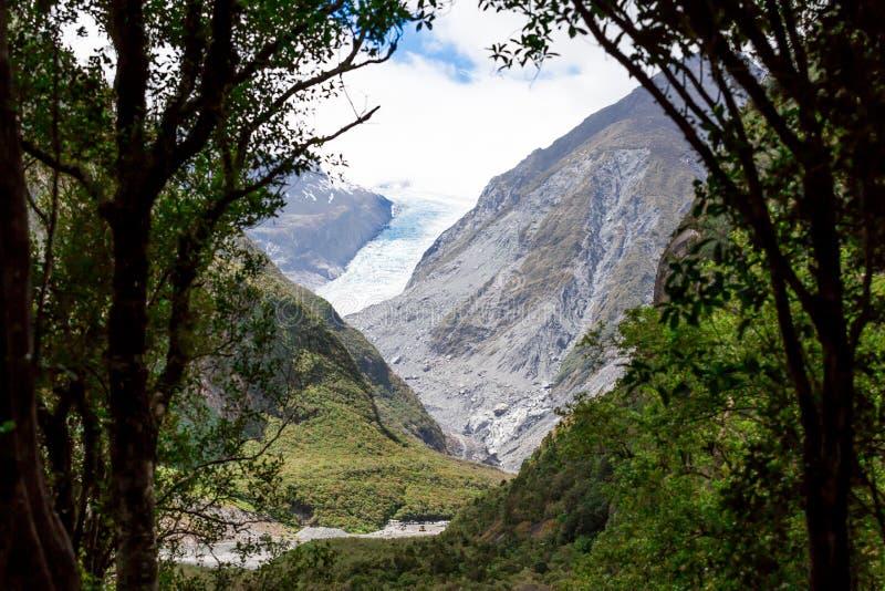 Λειώνοντας παγετώνας αλεπούδων στη Νέα Ζηλανδία στοκ φωτογραφίες