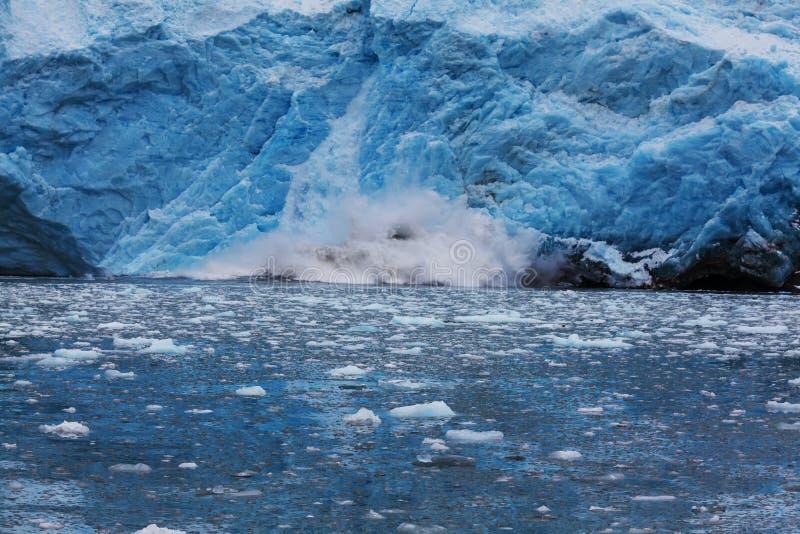 Λειώνοντας παγετώνας στην Αλάσκα στοκ εικόνα με δικαίωμα ελεύθερης χρήσης