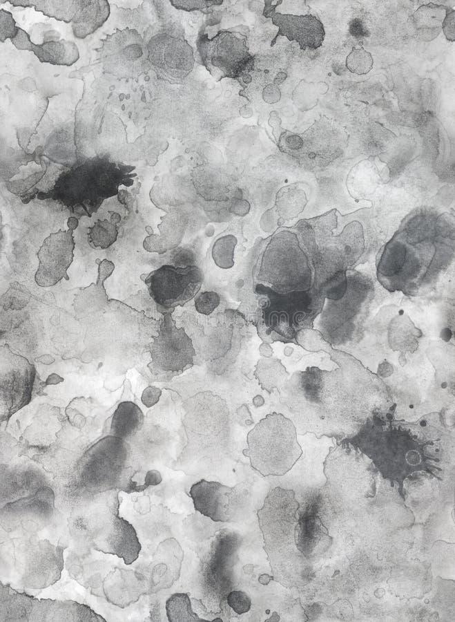 Λεκέδες γκρίζα σύσταση grunge εγγράφου στην άνευ ραφής στοκ εικόνες