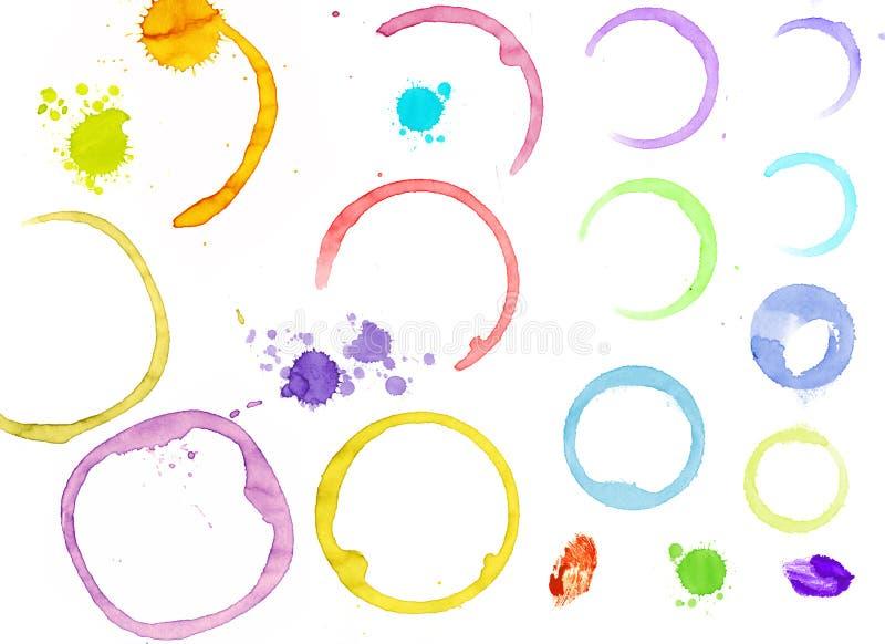 λεκέδες χρωμάτων Στοκ εικόνες με δικαίωμα ελεύθερης χρήσης