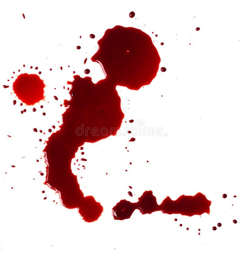 Λεκέδες αίματος (λακκούβα) στοκ εικόνες με δικαίωμα ελεύθερης χρήσης