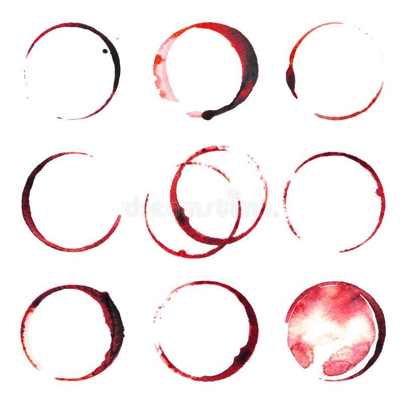 Λεκέδες κρασιού ελεύθερη απεικόνιση δικαιώματος