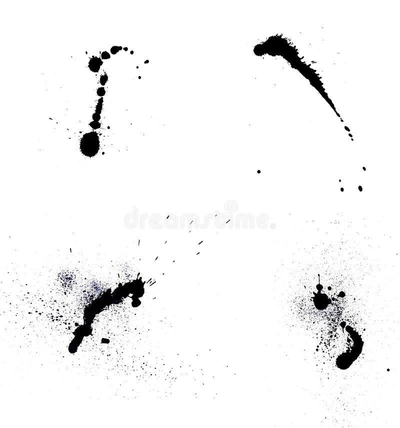 Λεκέδες μελανιού απεικόνιση αποθεμάτων