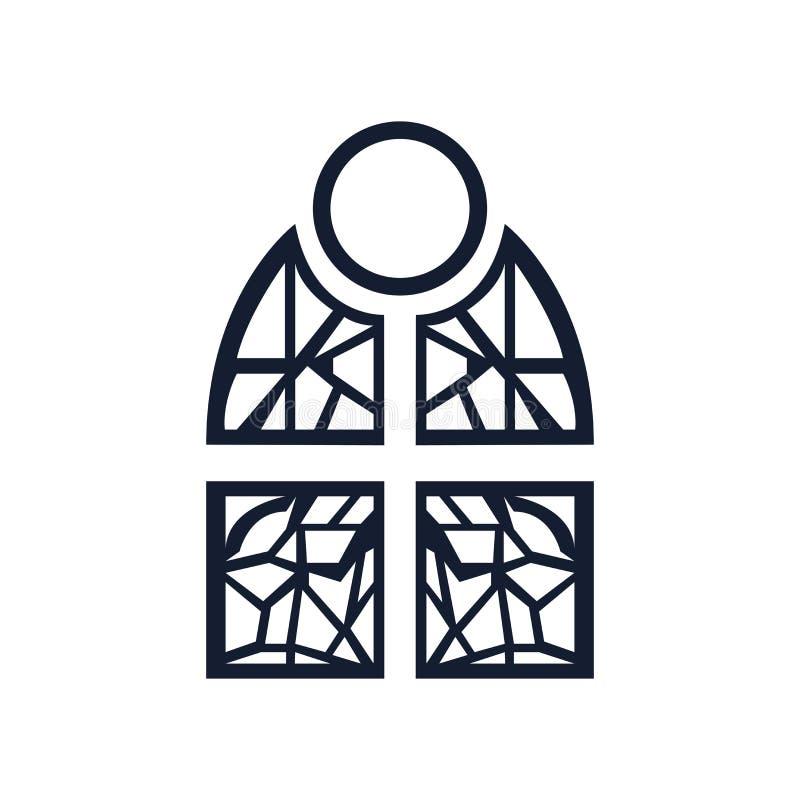 Λεκιασμένα σημάδι και σύμβολο εικονιδίων γυαλιού διανυσματικά που απομονώνονται στο άσπρο υπόβαθρο, λεκιασμένη έννοια λογότυπων γ απεικόνιση αποθεμάτων