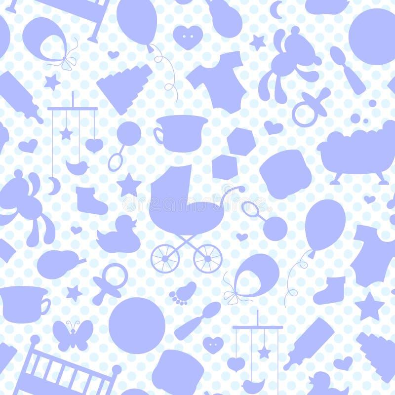 Λεκιασμένη απεικόνιση γυαλιού στο θέμα της παιδικής ηλικίας και τα νεογέννητα μωρά, τα εξαρτήματα μωρών, τα εξαρτήματα και τα παι απεικόνιση αποθεμάτων