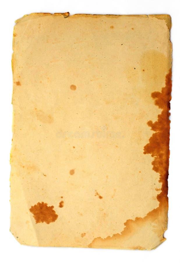 λεκιασμένος έγγραφο τρύ&gamma στοκ φωτογραφία