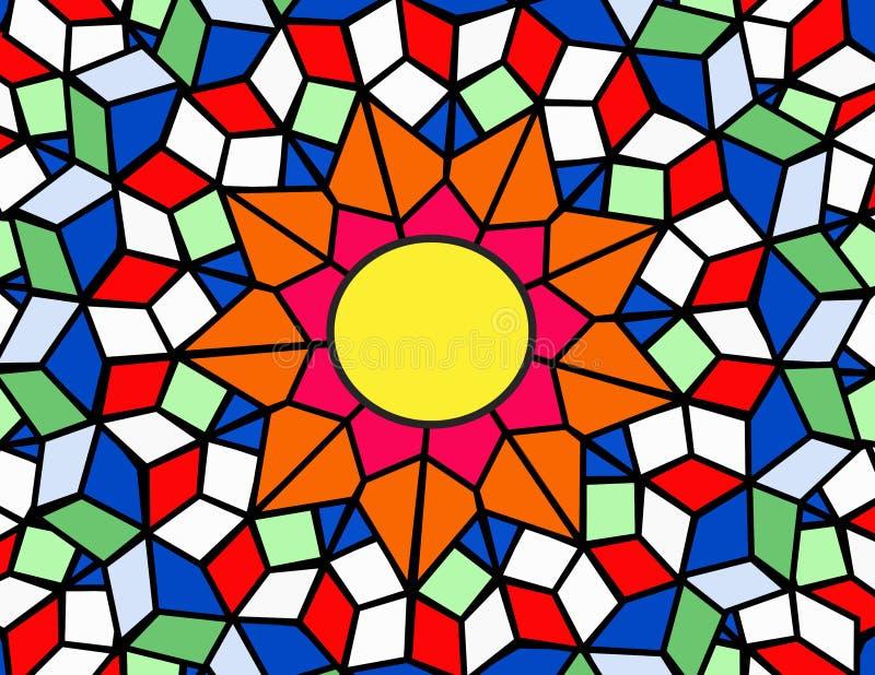 λεκιασμένος γυαλί ήλιο&s διανυσματική απεικόνιση