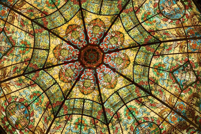 λεκιασμένο γυαλί θέατρο άνω και κάτω τελειών της Αργεντινής στοκ φωτογραφίες