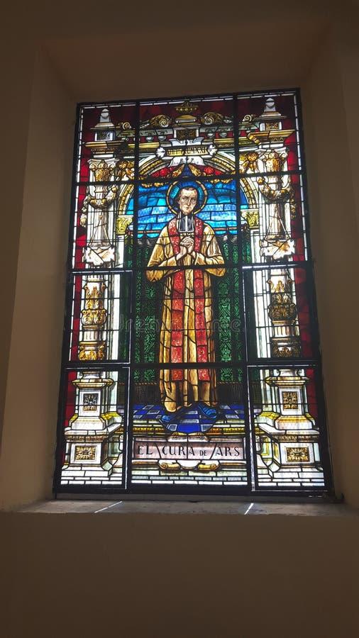 Λεκιασμένο γυαλί Άγιος στην κυρία μας καθεδρικού ναού του Guadalupe σε Ponce, Πουέρτο Ρίκο στοκ φωτογραφία με δικαίωμα ελεύθερης χρήσης