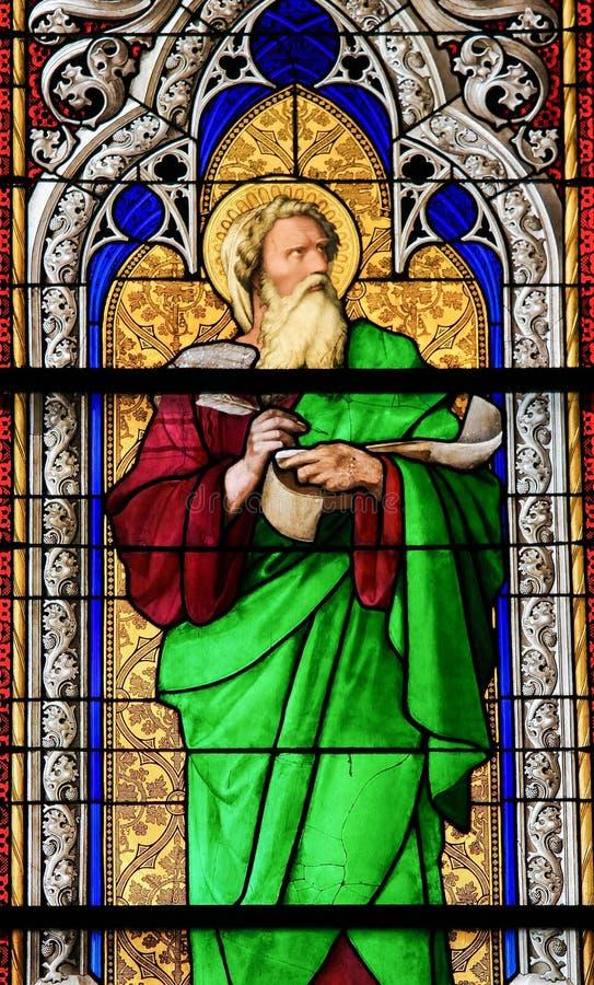 Λεκιασμένο γυαλί - ο προφήτης Ezechiel στοκ εικόνες