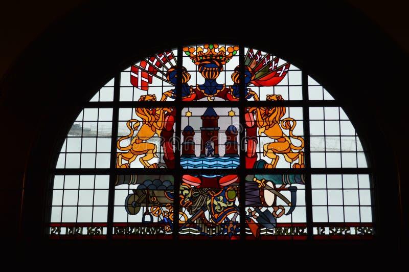 Λεκιασμένο γυαλί στην Κοπεγχάγη στοκ φωτογραφίες με δικαίωμα ελεύθερης χρήσης