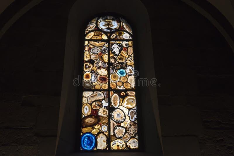 Λεκιασμένο παράθυρο Siegmar Polke Ζυρίχη γυαλιού στοκ φωτογραφία με δικαίωμα ελεύθερης χρήσης