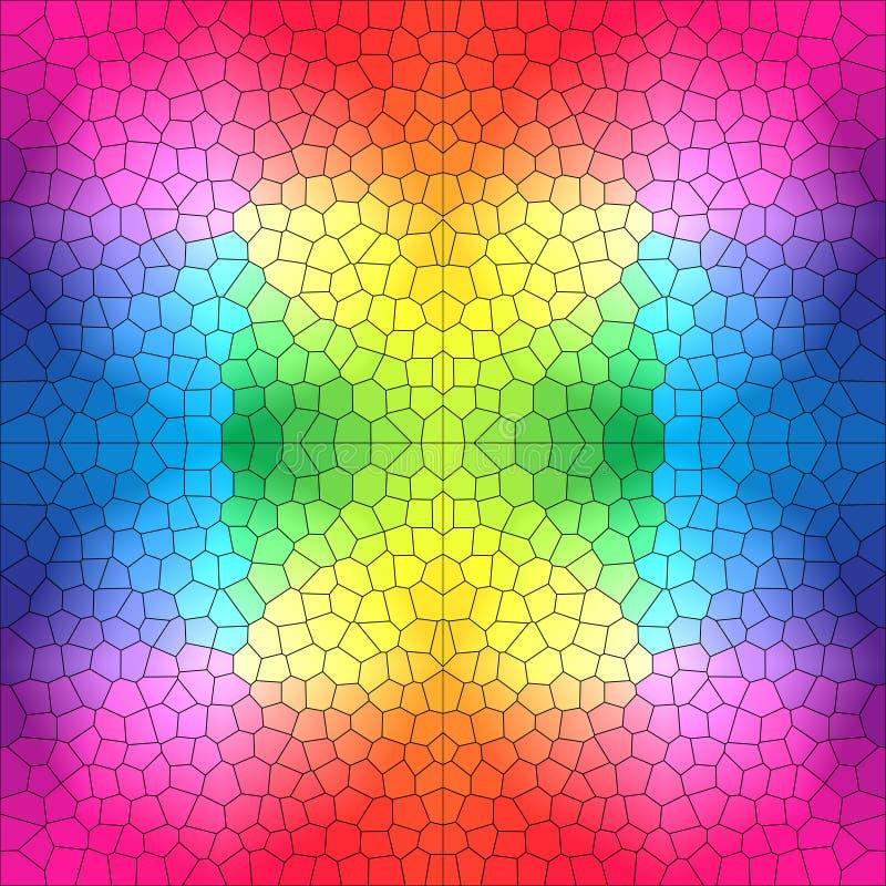 Λεκιασμένο σχέδιο γυαλιού στα φωτεινά χρώματα ελεύθερη απεικόνιση δικαιώματος