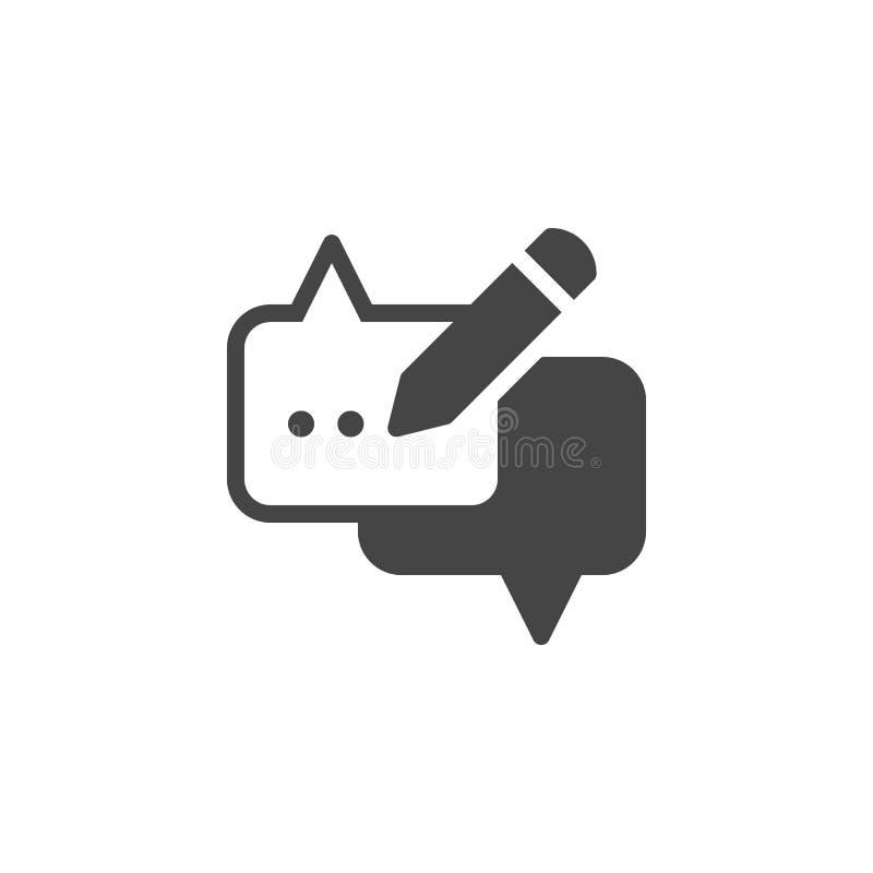 Λεκτική φυσαλίδα και εικονίδιο μολυβιών Ετικέτα Ιστού σύννεφων διαλόγου για τις συνομιλίες, τις περιοχές και apps, στιγμιαίος αγγ απεικόνιση αποθεμάτων