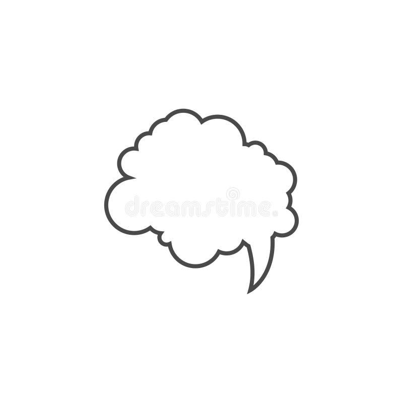 Λεκτική φυσαλίδα, λεκτικό μπαλόνι, διανυσματικό εικονίδιο τέχνης γραμμών φυσαλίδων συνομιλίας για τα apps και τους ιστοχώρους ελεύθερη απεικόνιση δικαιώματος