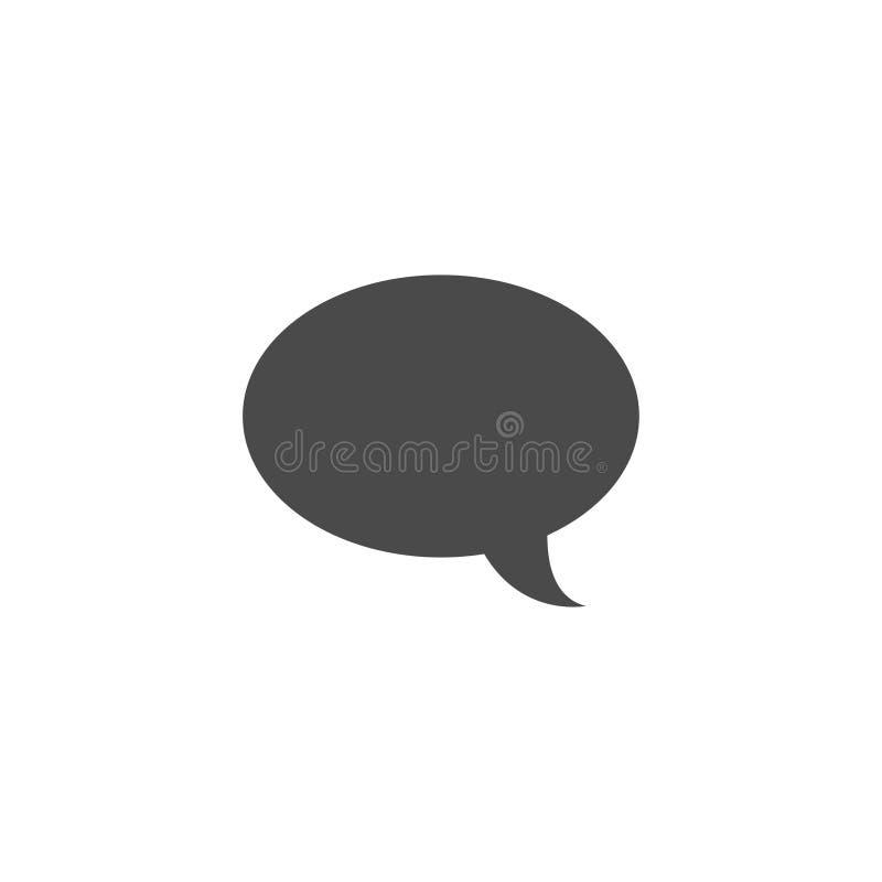 Λεκτική φυσαλίδα, λεκτικό μπαλόνι, διανυσματικό εικονίδιο φυσαλίδων συνομιλίας για τα apps και τους ιστοχώρους διανυσματική απεικόνιση