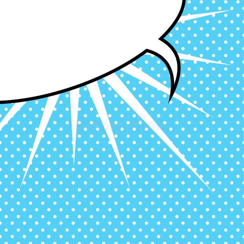 Λεκτική φυσαλίδα στο ύφος λαϊκός-τέχνης απεικόνιση αποθεμάτων
