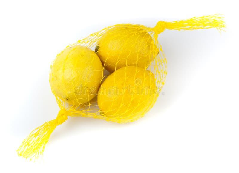 λεμόνια τρία κίτρινα στοκ εικόνες